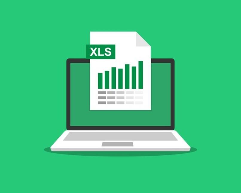 ilustracion de hojas de calculo en laptop