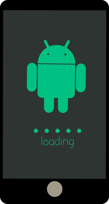 logo de android cargando en movil