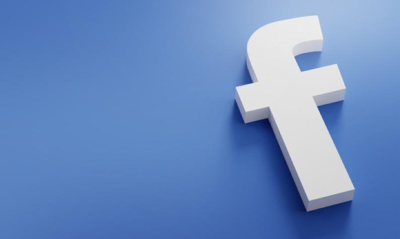 nuevo logo de facebook blanco