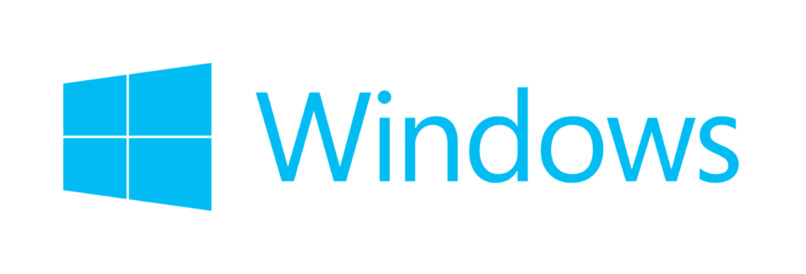 logo de windows con letras azules