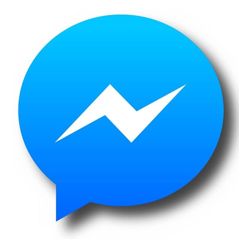 logo de messenger sobre un fondo color blanco