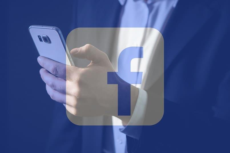 icono de facebook lite color blanco y azul