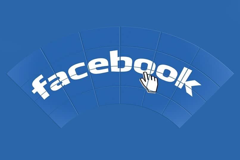 nombre de la red social facebook sobre un fondo color azul