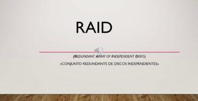 Tecnología RAID 1