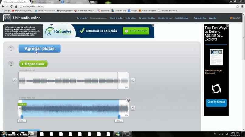 editor de audios movil pagina web