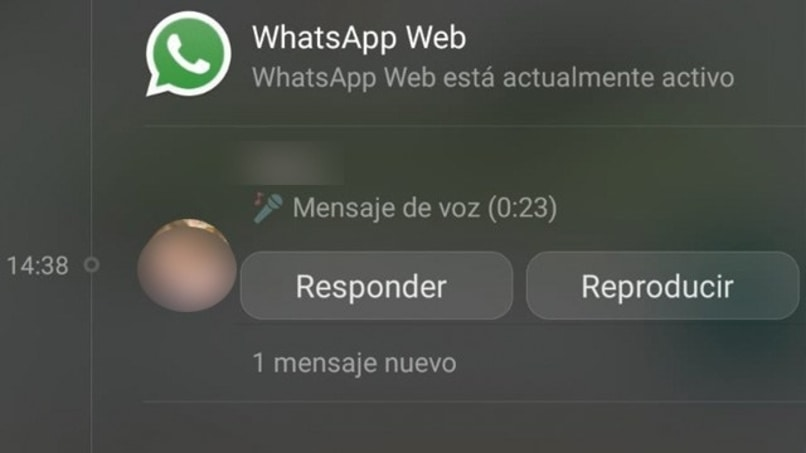 audio de whatsapp en notificaciones