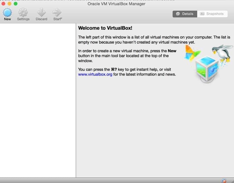 el programa virtualbox en tu mac
