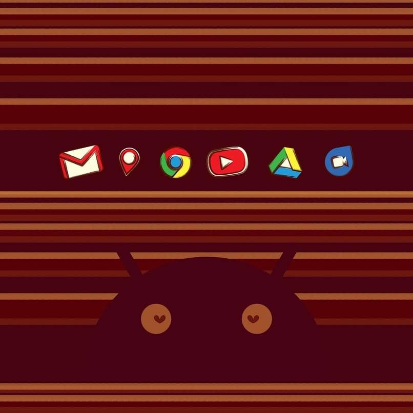 icono de android y apps