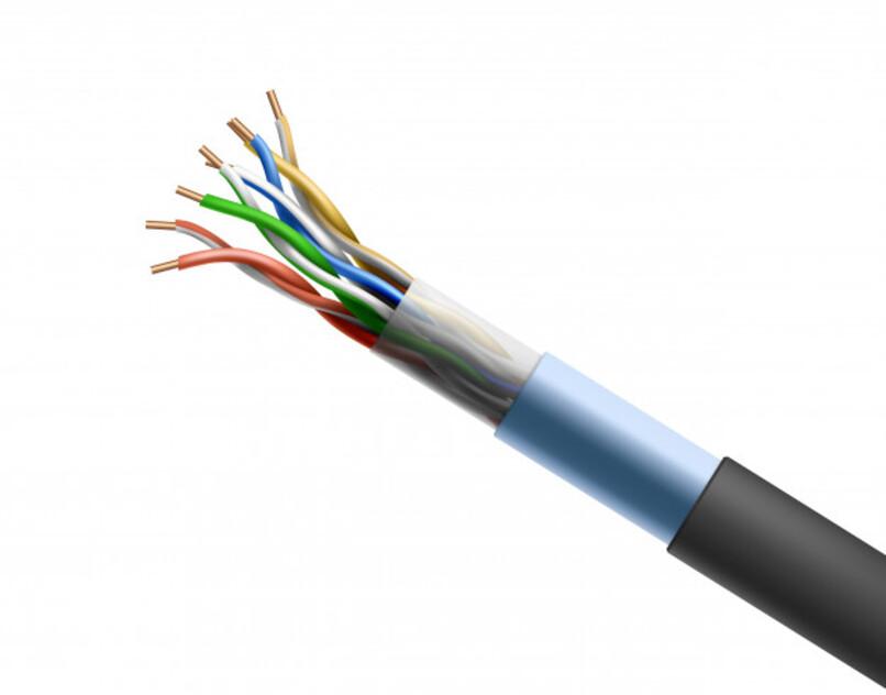 ilustracion de un cable con sus componentes torcidos