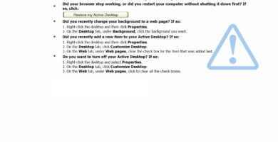 Cómo Detener la Recuperación de Active Desktop en Windows XP