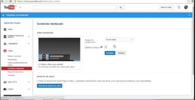 Cómo Poner un Vídeo Destacado Dentro de mi Canal de YouTube