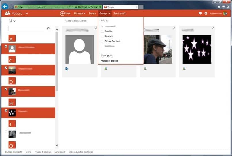 configurar y editar grupo en outlook