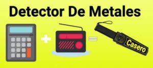 esquema del detector de metales casero