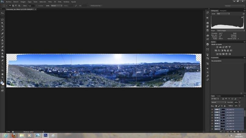 como editar foto panoramica en photoshop