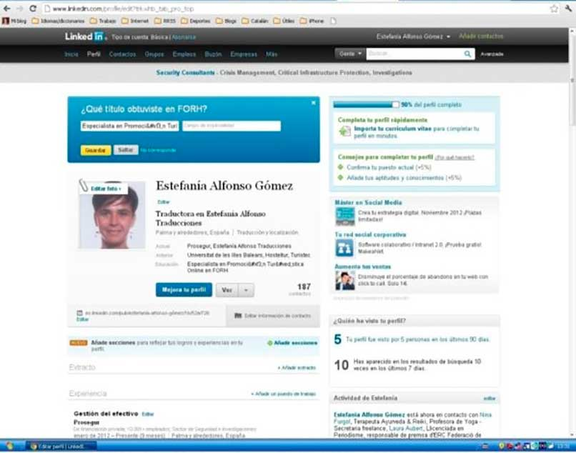 Mejorando el perfil de Linkedin