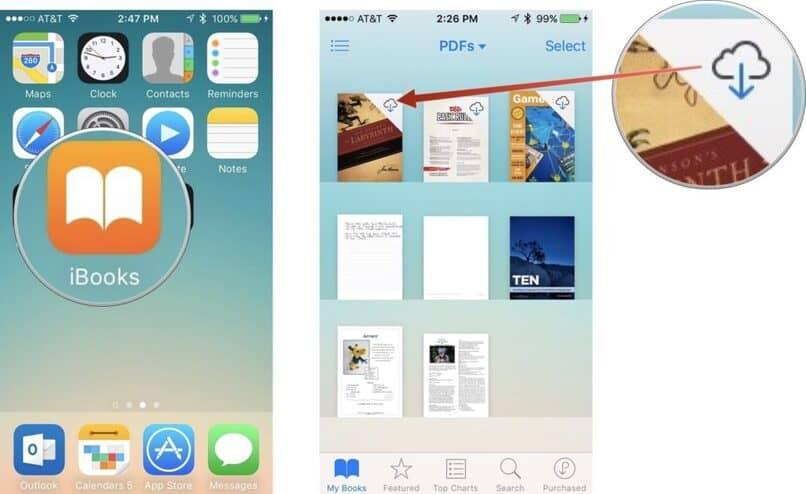 como descargar un pdf en iphone con ibooks