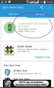 interfaz grafica de la app kingroot