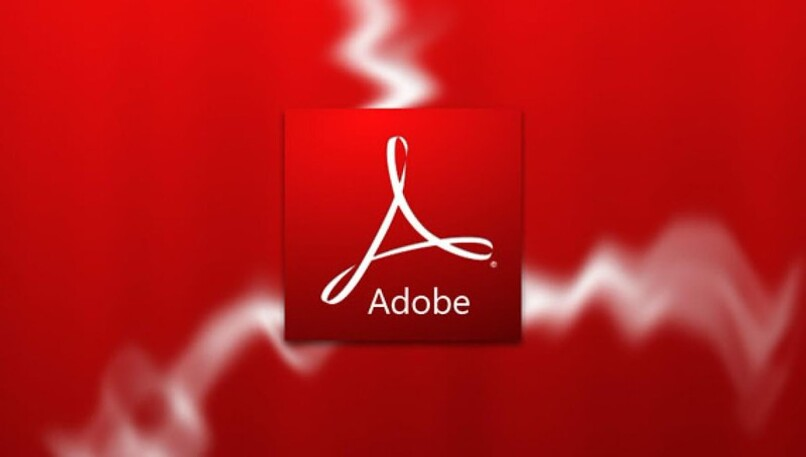 logo de adobe reader con fondo rojo