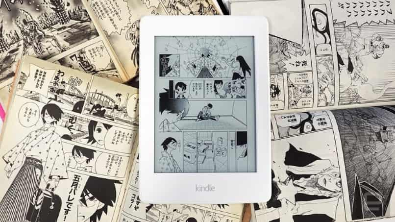 lectura de manga en kindle blanca