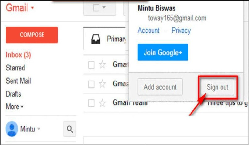 cerrar gmail dispositivos