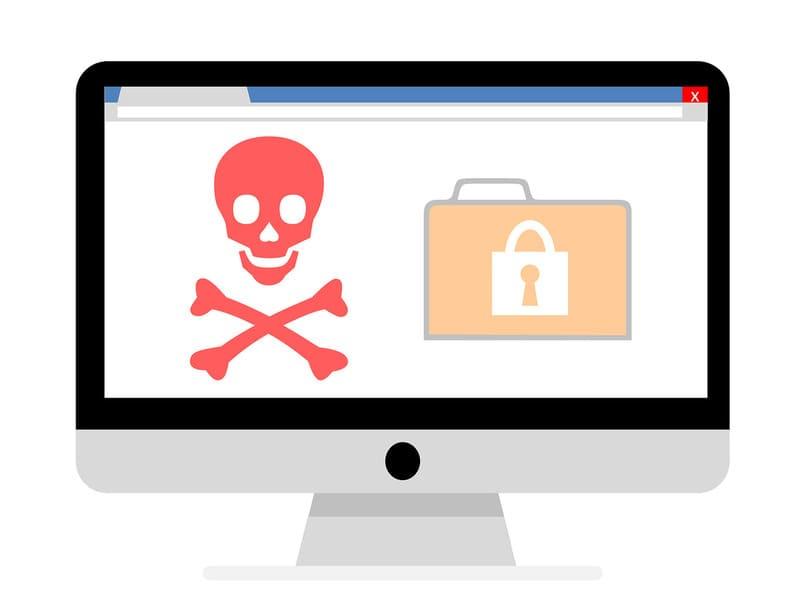 navegador con signos de peligro