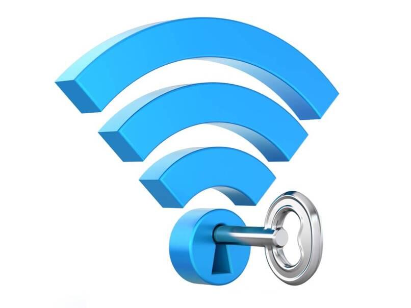 señal wifi siendo protegida con llave