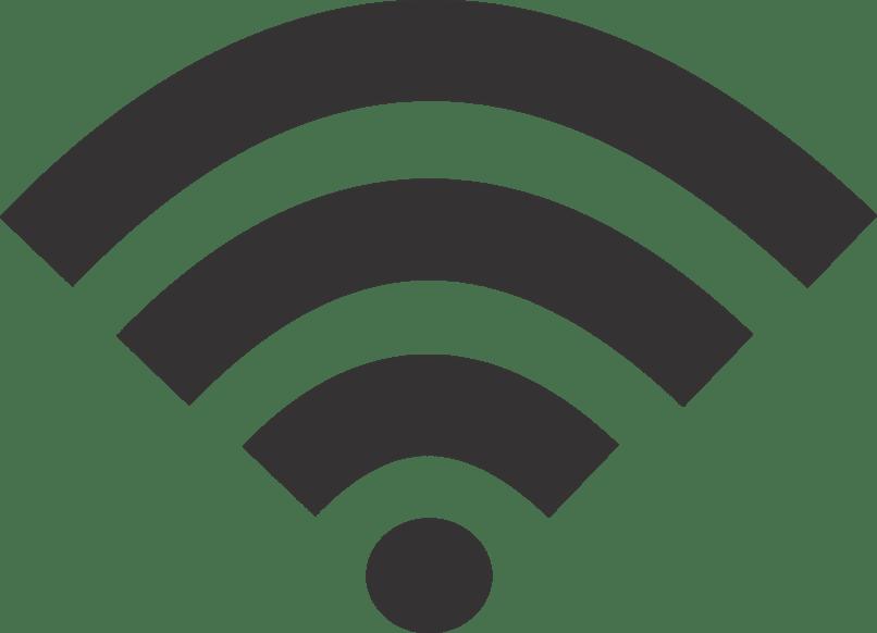 señal wifi en color negro