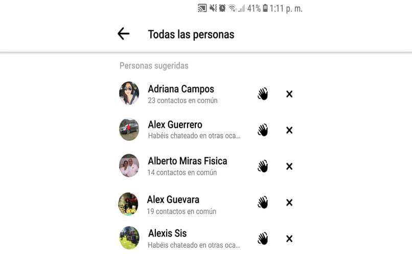 contactos agenda facebook