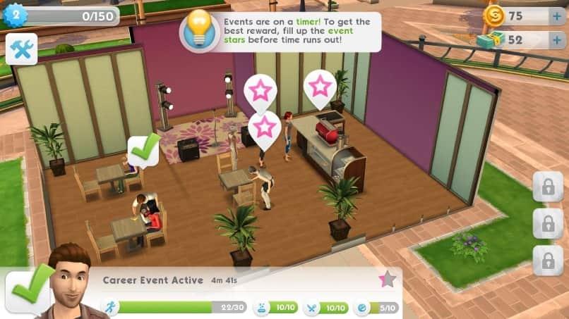 juego de the sims mobile en android