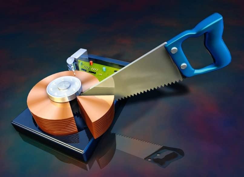 disco fisico varios virtuales