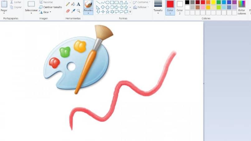 interfaz del programa paint
