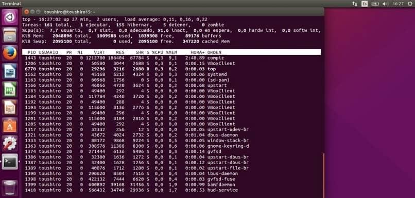 metodo instructivo para iniciar los servicios en servidores linux