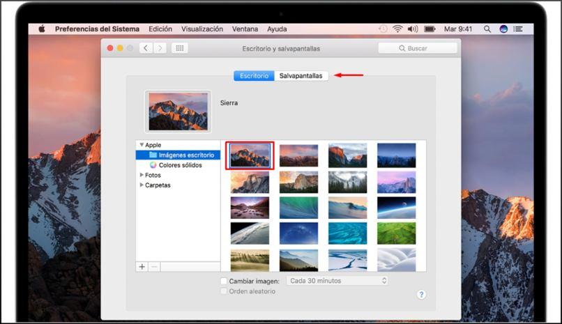 configurar fondo pantalla mac