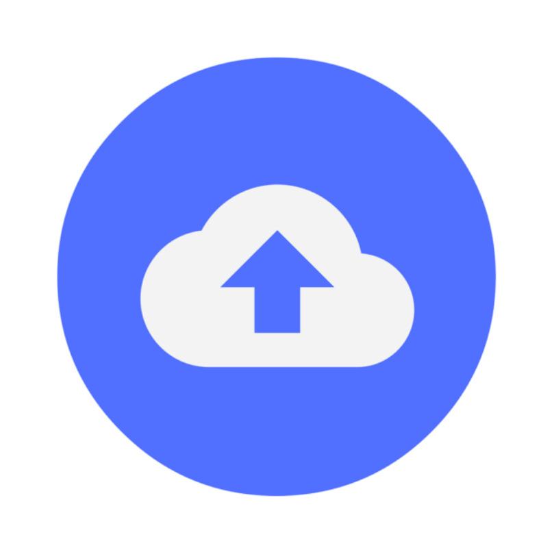 logo de icloud subiendo un archivo