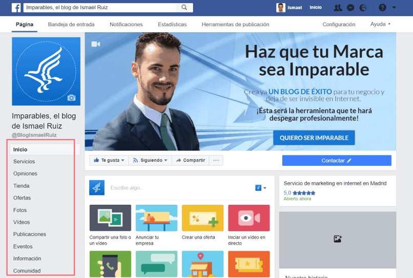 crear blog para vender por facebook