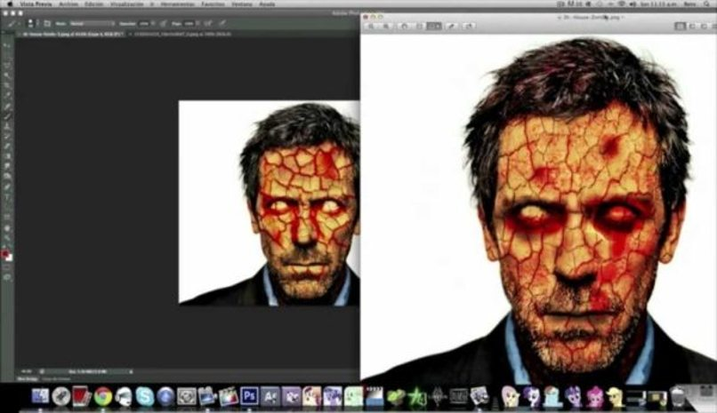 editar persona convertir zombie