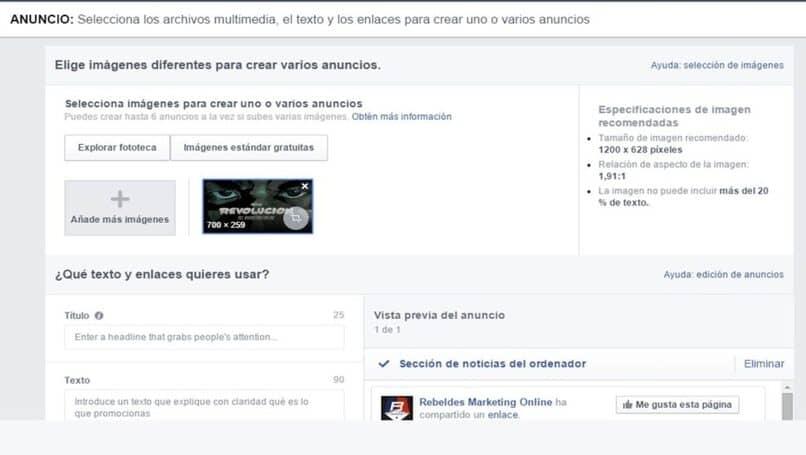 configurar o programar publicaciones en facebook