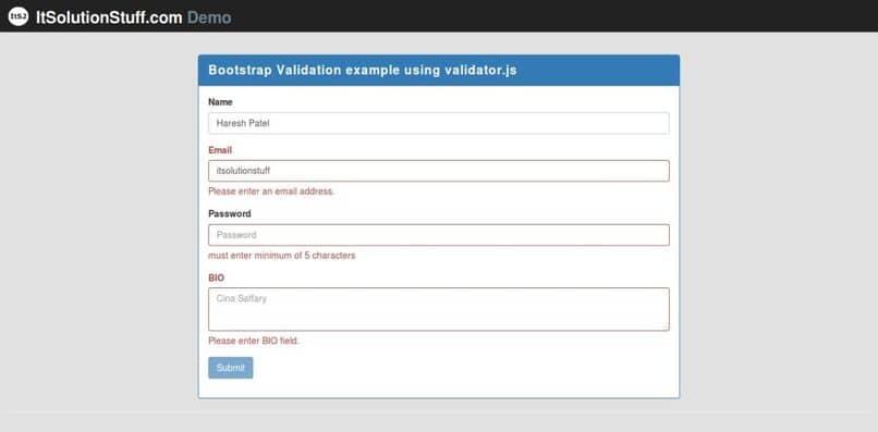 aprende a crear formularios con bootstrap y javascript