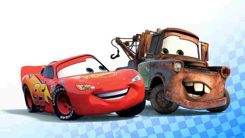 amigos disney auto rojo