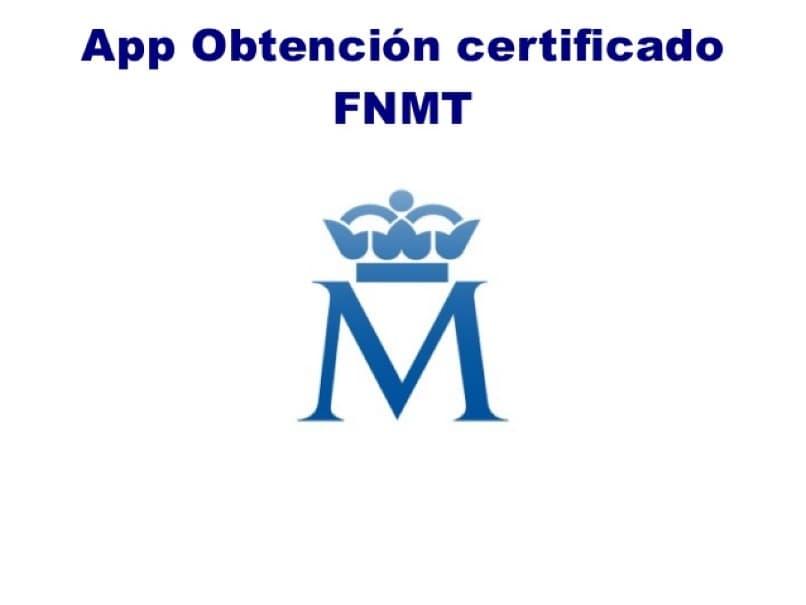 aplicacion para optener certificado digital