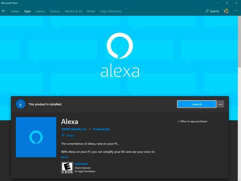 Instalación de la App Alexa