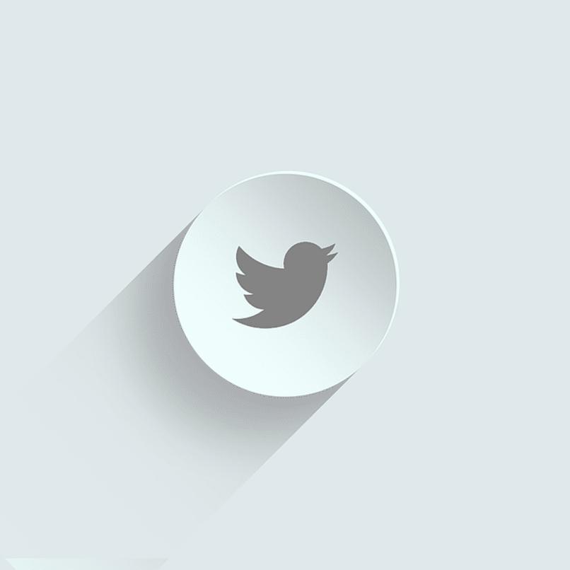 logo de twitter en blanco