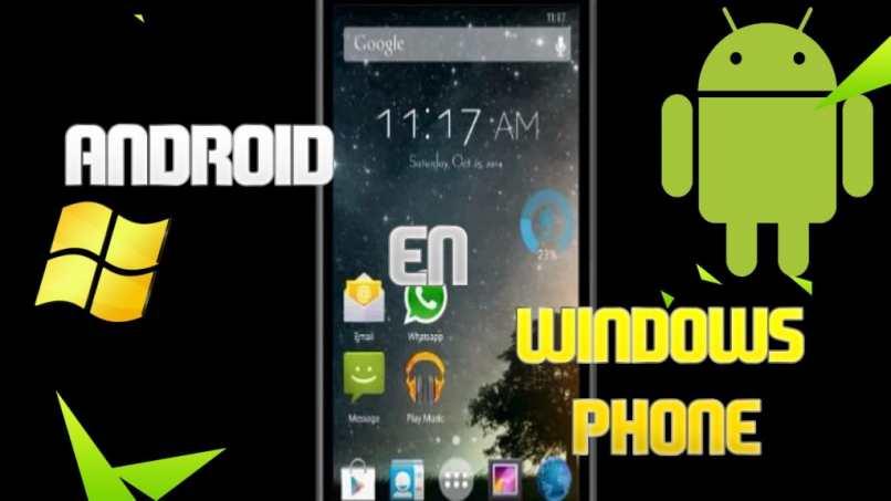 instalando android windows phone movil