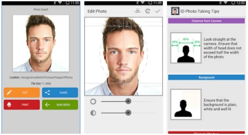 herramienta android passport photo id studio