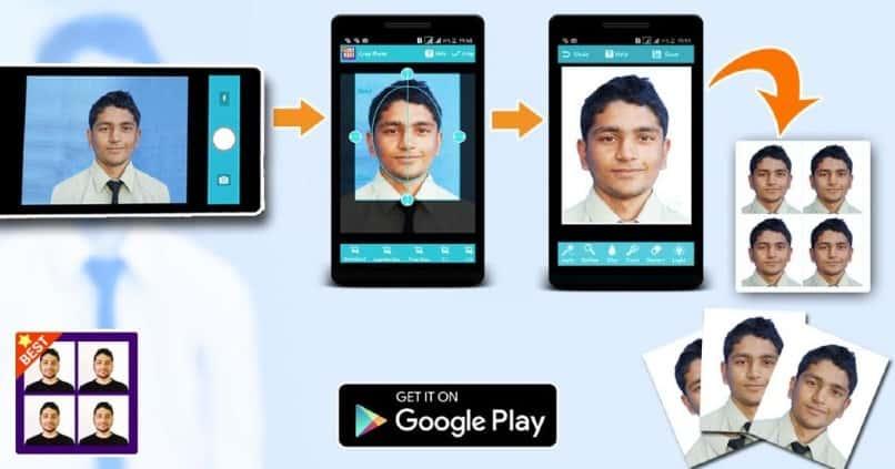 herramienta android para crear fotos tipo carnet