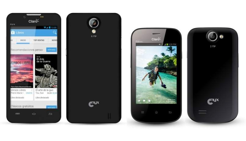celulares nyx color negro diferente referencia