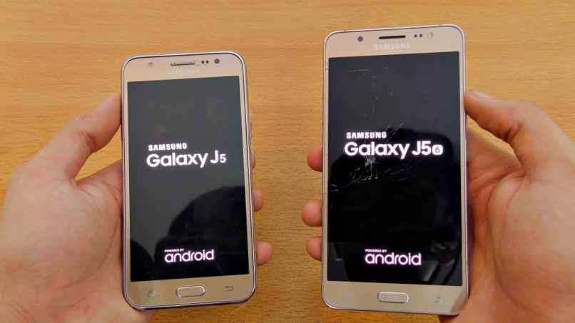 dos celulares samsung j5 color dorado