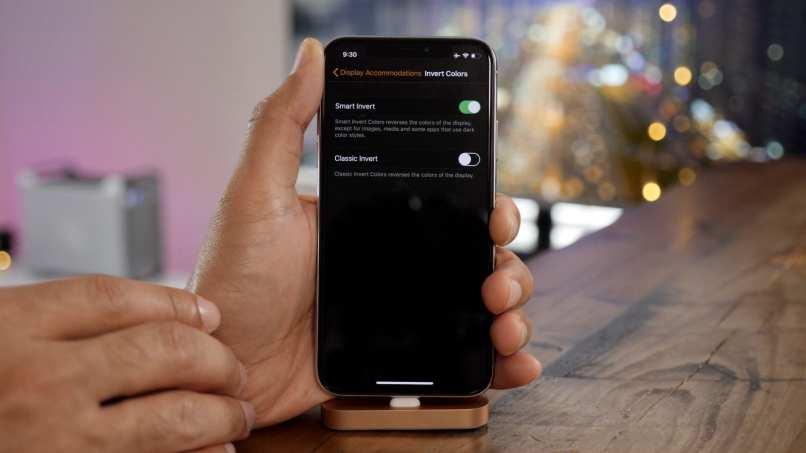 iphone modo oscuro wallpaper configurar