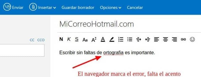 forma rapida de activar y desactivar corrector automatico en hotmail