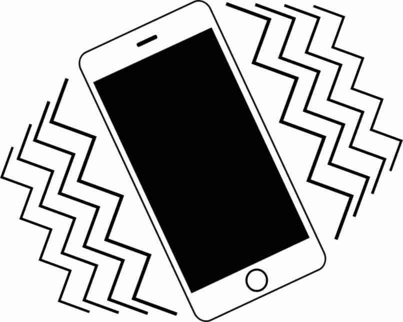 dibujo celular iphone vibrando